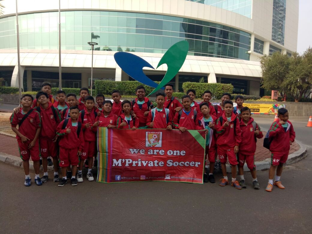 Spirit 2017, M'Private Soccer School Pasang Kuda-kuda